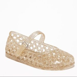 Old Navy Basket-Weave Jelly Ballet Flats